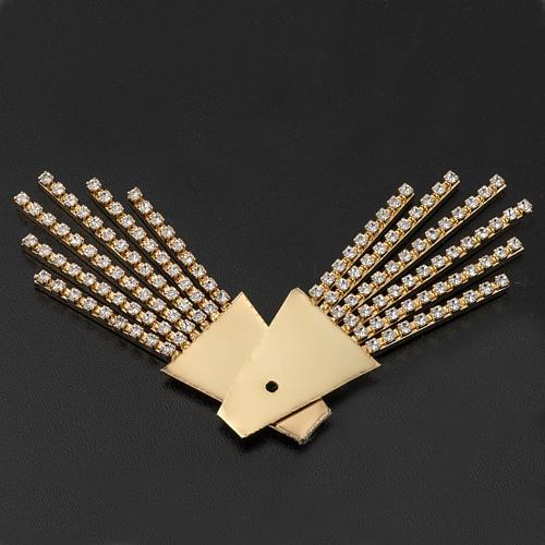 Raggiera ottone filigrana oro con Swarovski 4