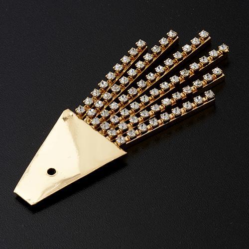 Raggiera ottone filigrana oro con Swarovski 6