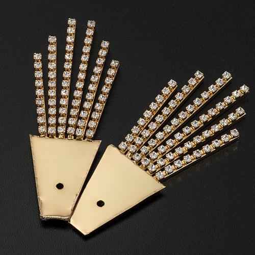 Raggiera ottone filigrana oro con Swarovski 7