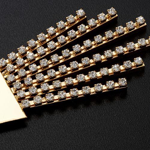Raggiera ottone filigrana oro con Swarovski 8