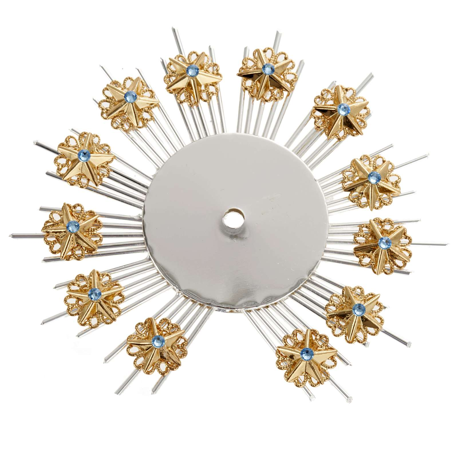 Radiant halo with flower decorations 3
