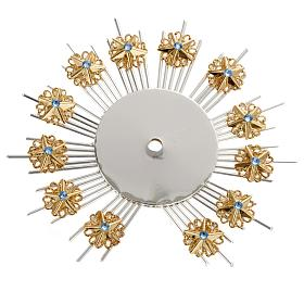 Radiant halo with flower decorations s1