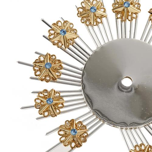 Radiant halo with flower decorations 2