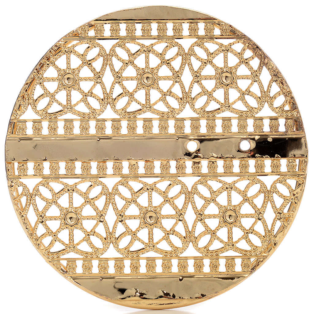 Halo in gold plated brass filigree 3
