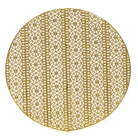Halo in gold plated brass filigree s1