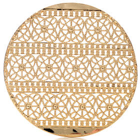 Halo in gold plated brass filigree s3