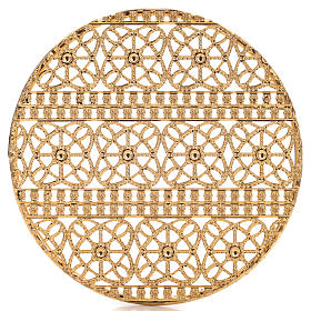 Halo in gold plated brass filigree s4
