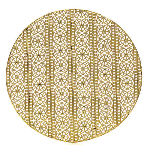 Halo in gold plated brass filigree 1