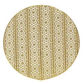 Stellario ottone filigrana dorata e ricami s1