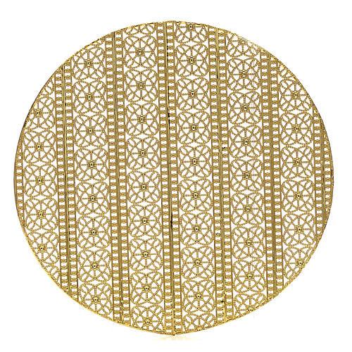 Stellario ottone filigrana dorata e ricami 1