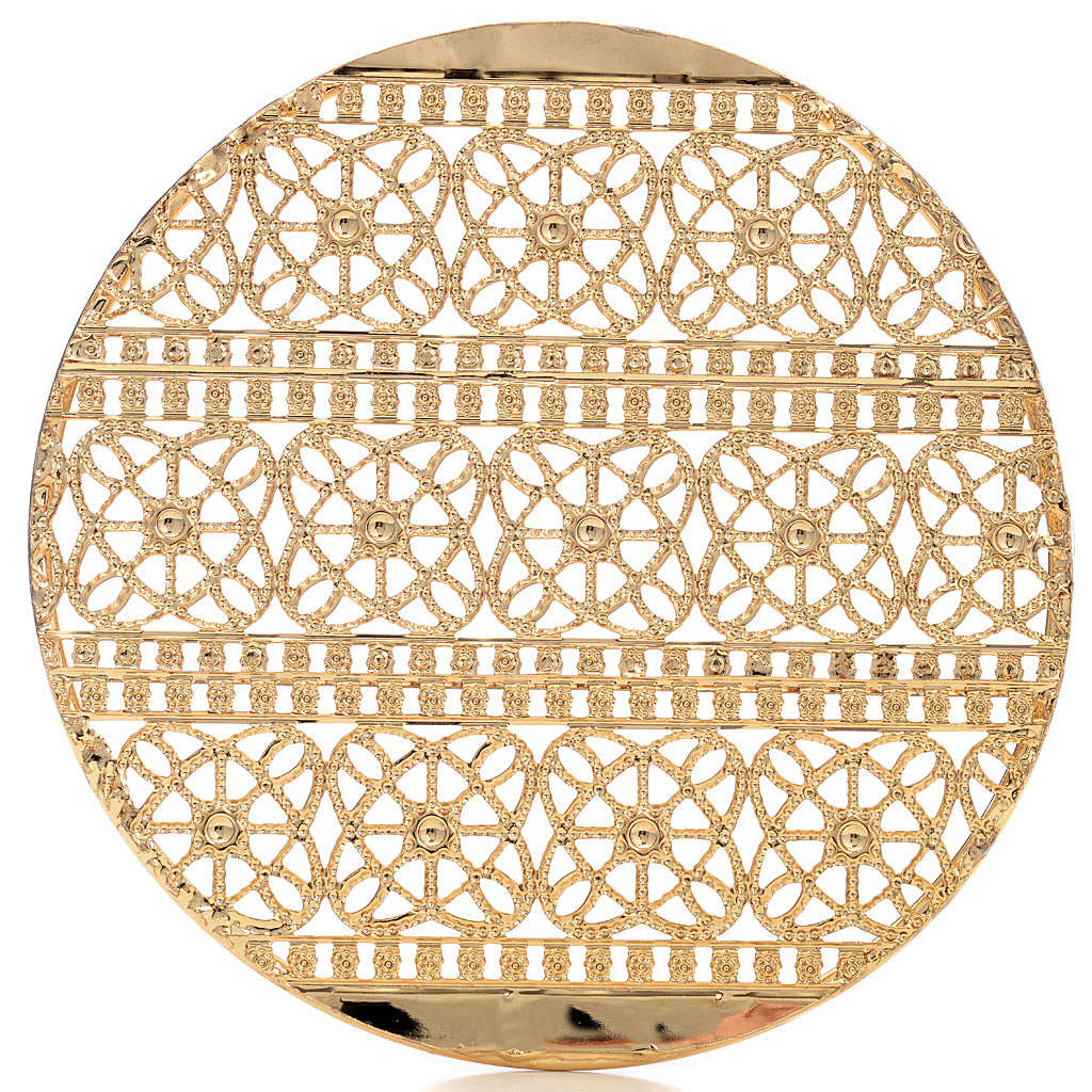 Full Halo in Gold Plated Brass Filigree 3