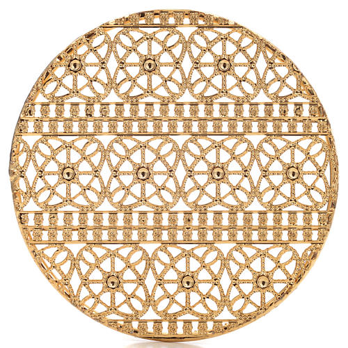 Full Halo in Gold Plated Brass Filigree 4