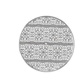 Halo in silver plated brass filigree s3