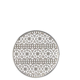 Halo in silver plated brass filigree s4