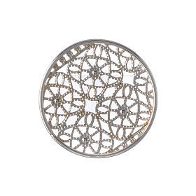 Halo in silver plated brass filigree s5