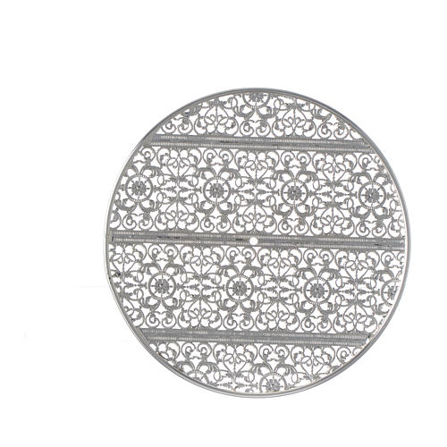 Halo in silver plated brass filigree 3