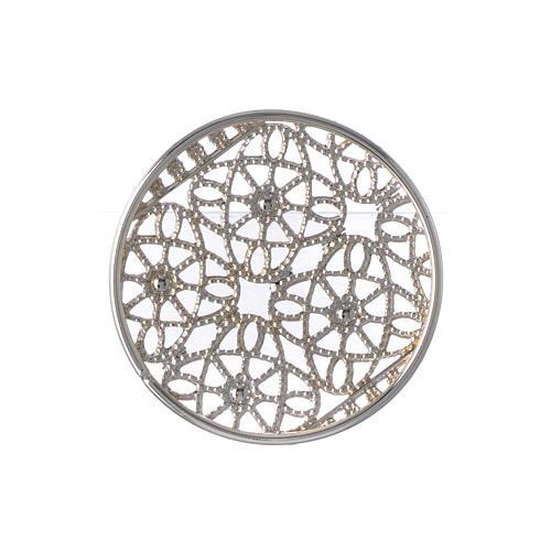 Halo in silver plated brass filigree 5