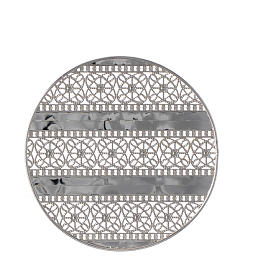 Aureola latón filiraga plateada y bordados s2