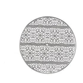 Aureola latón filiraga plateada y bordados s3