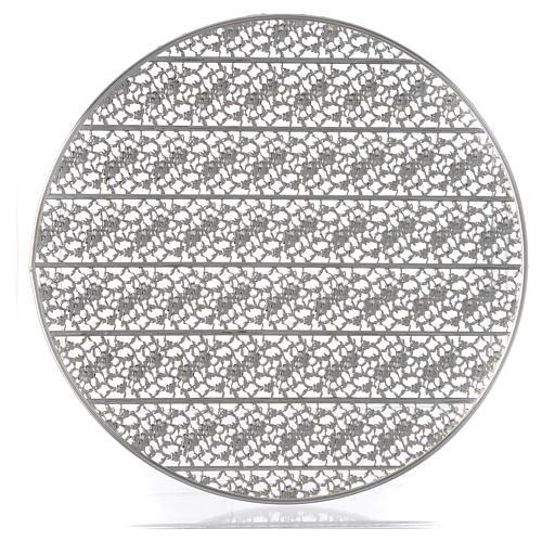 Aureola latón filiraga plateada y bordados 1
