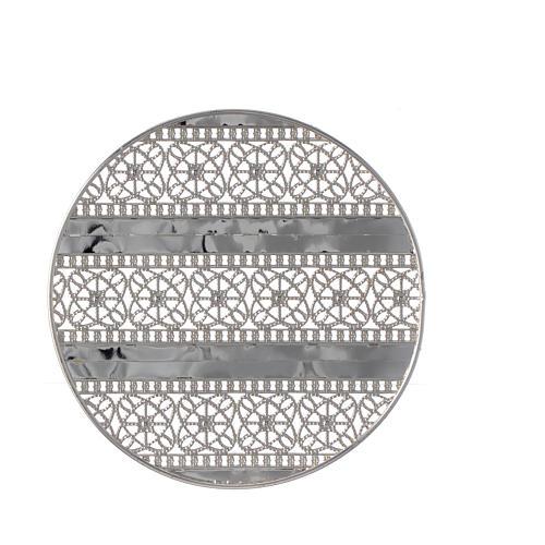 Aureola latón filiraga plateada y bordados 2