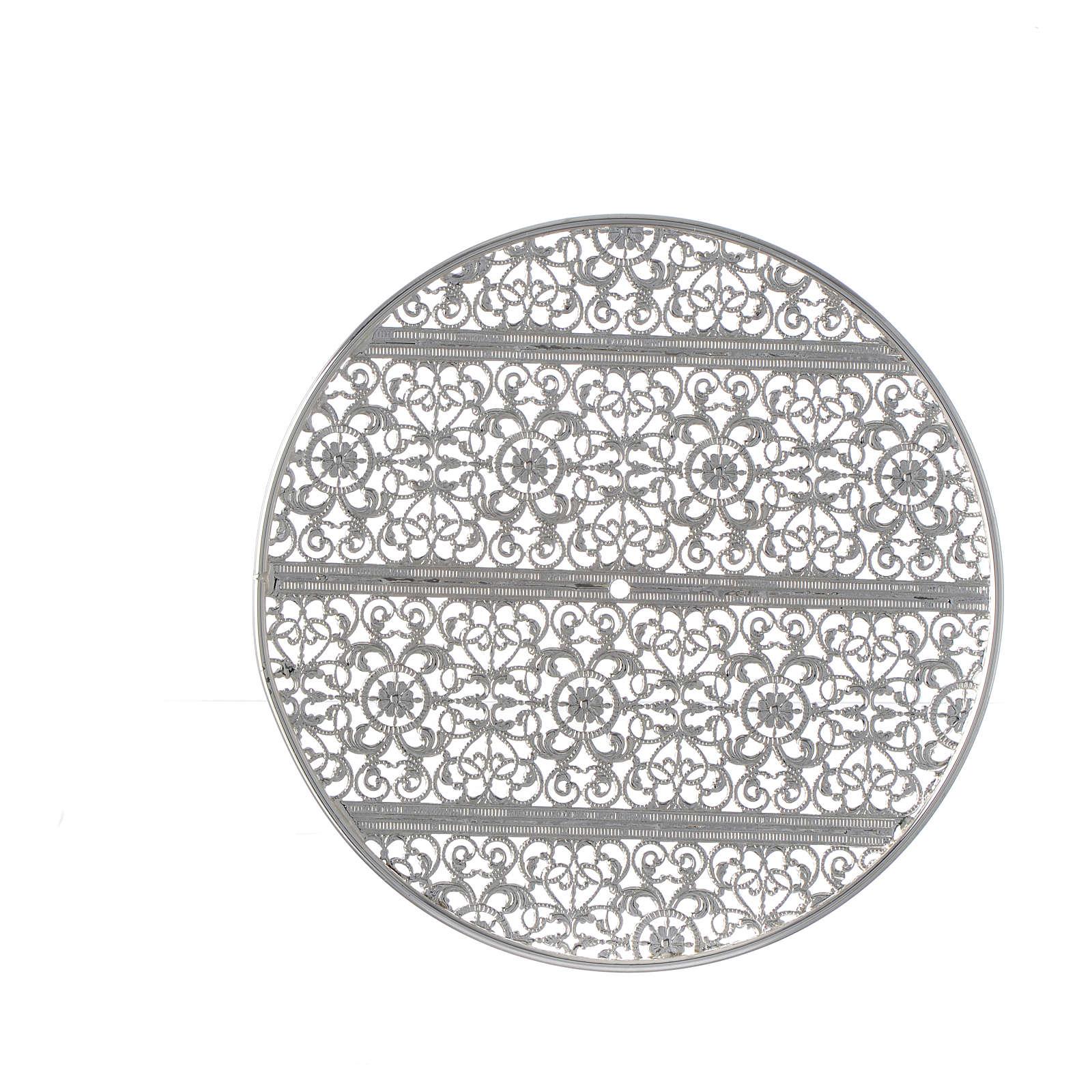 Stellario ottone filigrana argentata e ricami 3