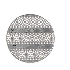 Stellario ottone filigrana argentata e ricami s2