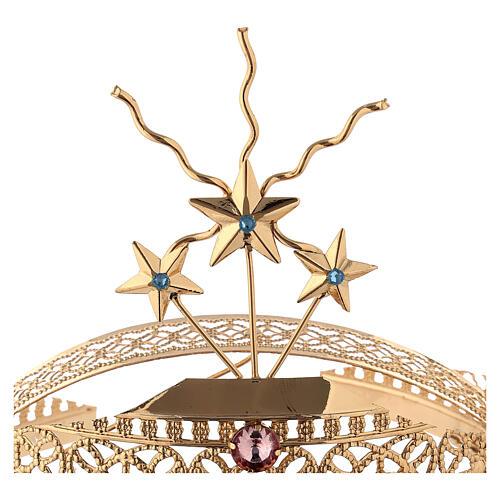 Diadema in ottone filigrana dorata 4