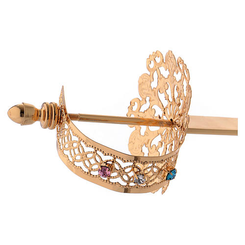 Sword for statues in gold-plated filigree 4