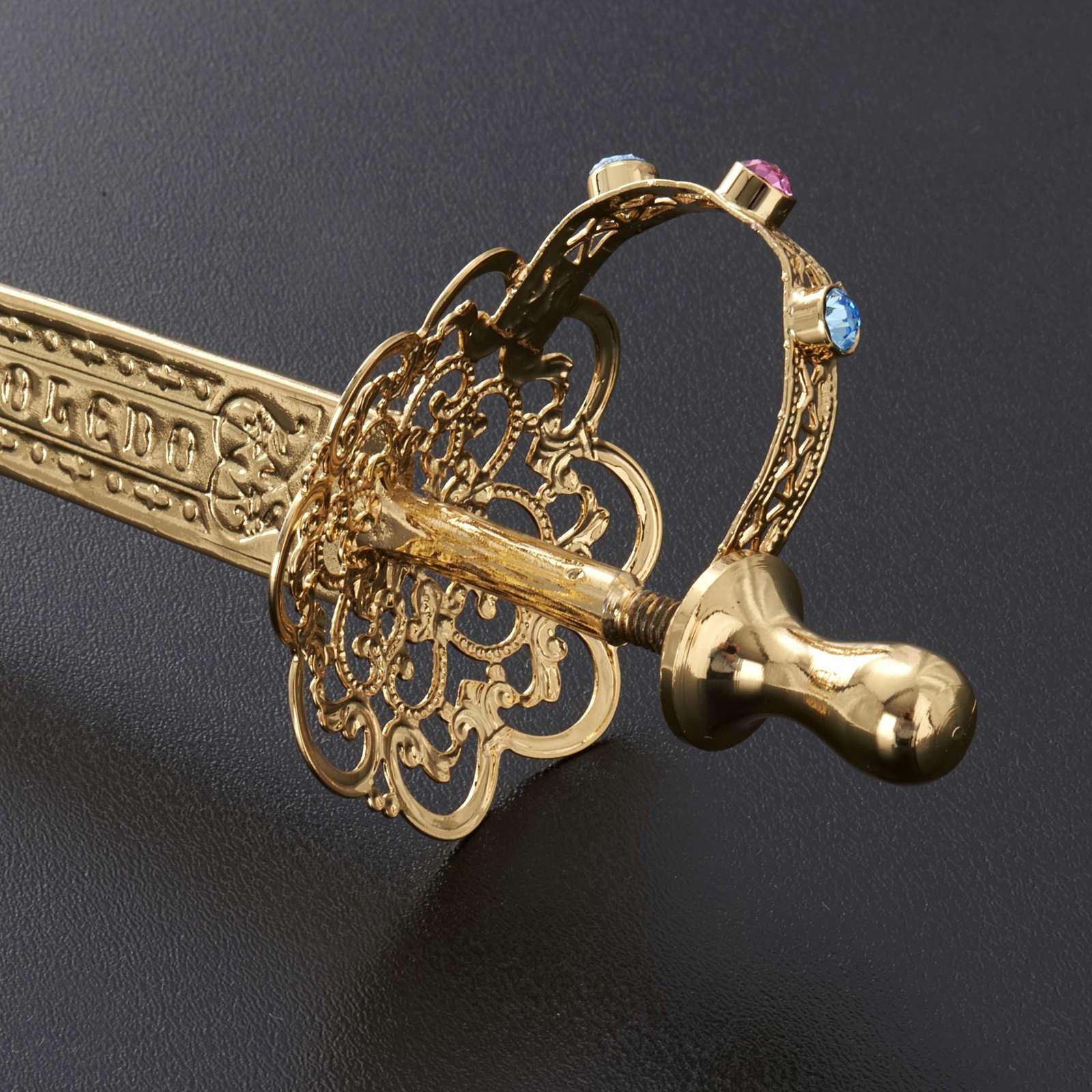 Espada latón filigrana dorada 3