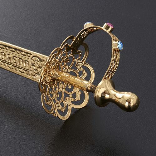 Espada latón filigrana dorada 5
