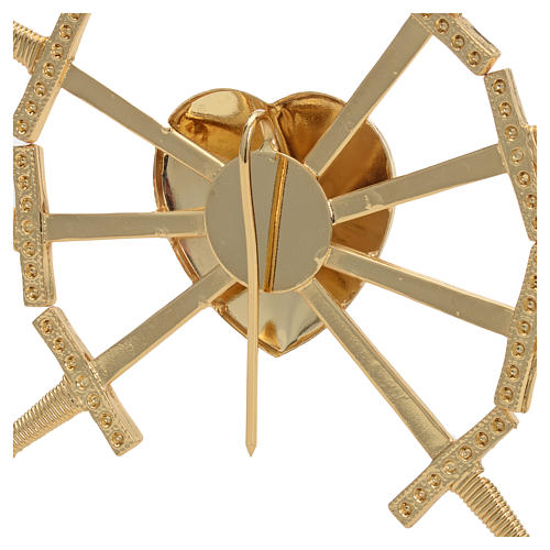 Heart with 7 swords in gold-plated brass, 16cm 5