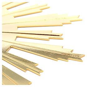 Raggiera ottone dorato raggi incisi 25 cm s3