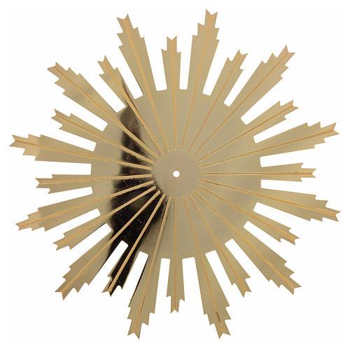 Raggiera ottone dorato raggi incisi 25 cm 1
