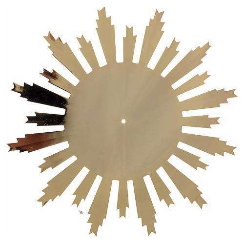 Raggiera ottone dorato raggi incisi 25 cm 2