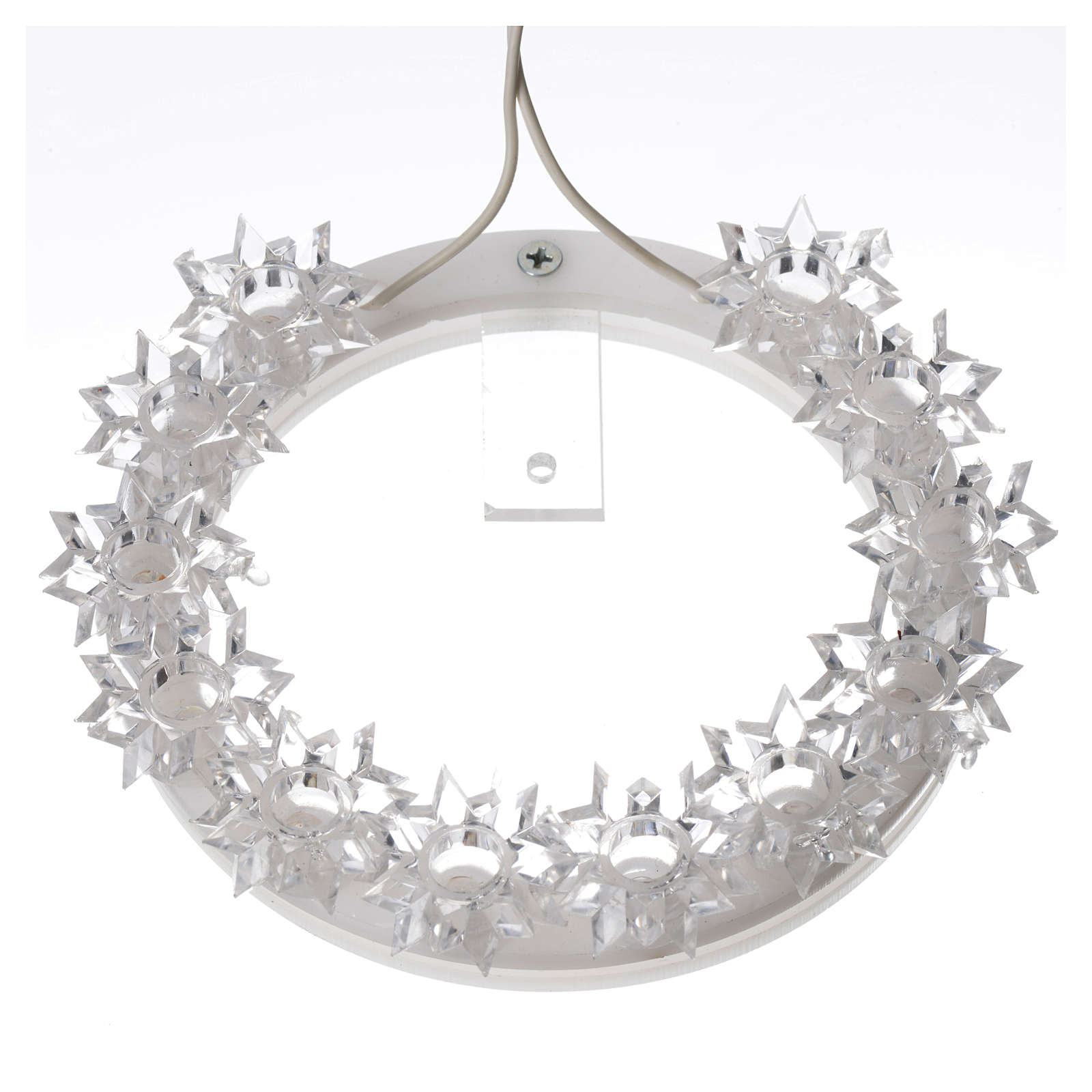 Plexiglas luminous halo with flowers and light blue LED 3