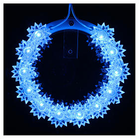 Plexiglas luminous halo with flowers and light blue LED s13