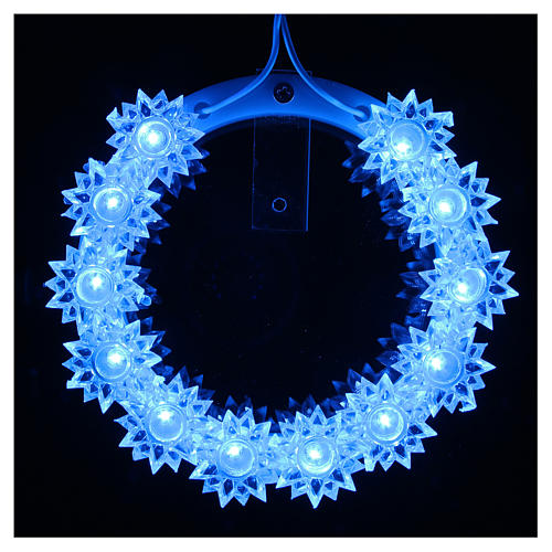 Aureola Pléxiglass luminosa Flor led azules 10 CM 13