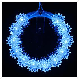 Auréole lumineuse en plexiglas fleurs leds bleus 10 cm s13
