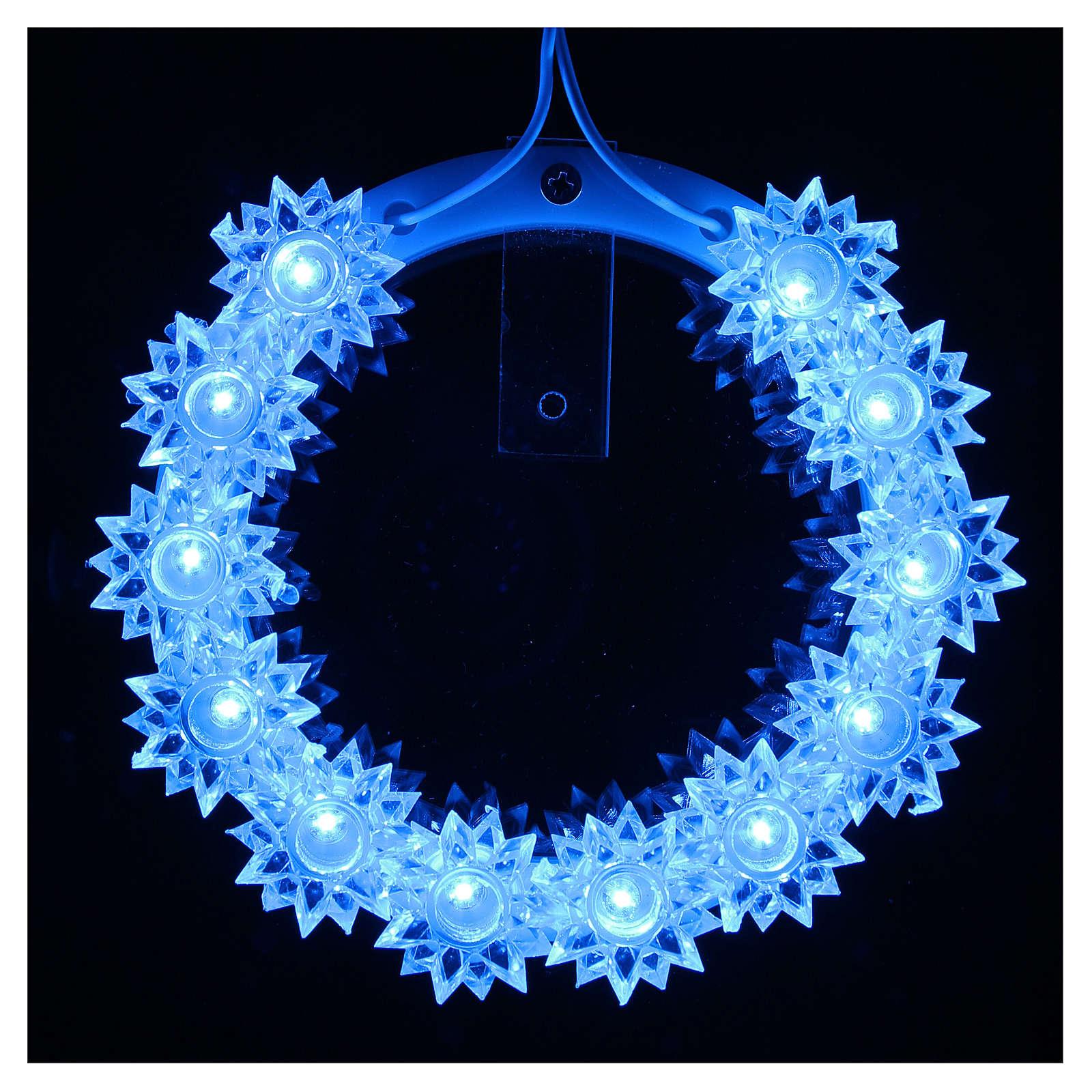 Aureola in Plexiglass luminosa Fiore led azzurri 10 CM 3