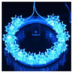 Aureola z plexiglassu podświetlana Kwiaty led błękitne 10 cm s10