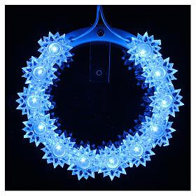 Aureola z plexiglassu podświetlana Kwiaty led błękitne 10 cm s2