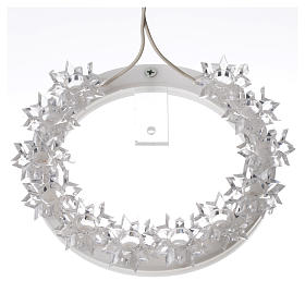 Plexiglas luminous halo with flowers and light blue LED s9
