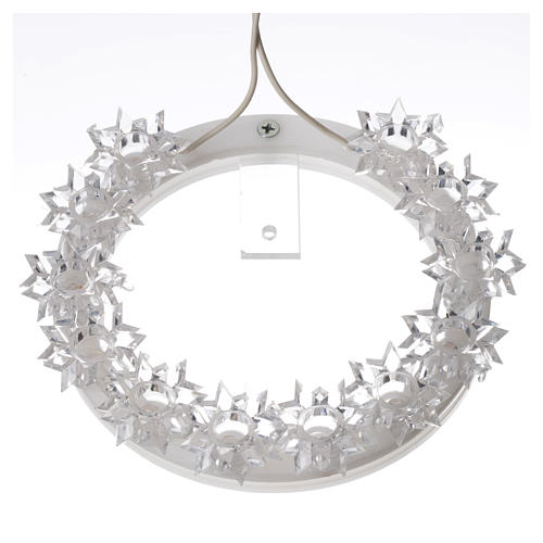 Plexiglas luminous halo with flowers and light blue LED 9