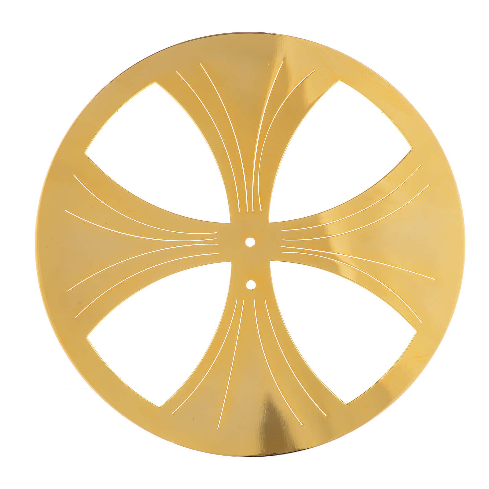 Raggiera ottone dorato 4 raggi 3