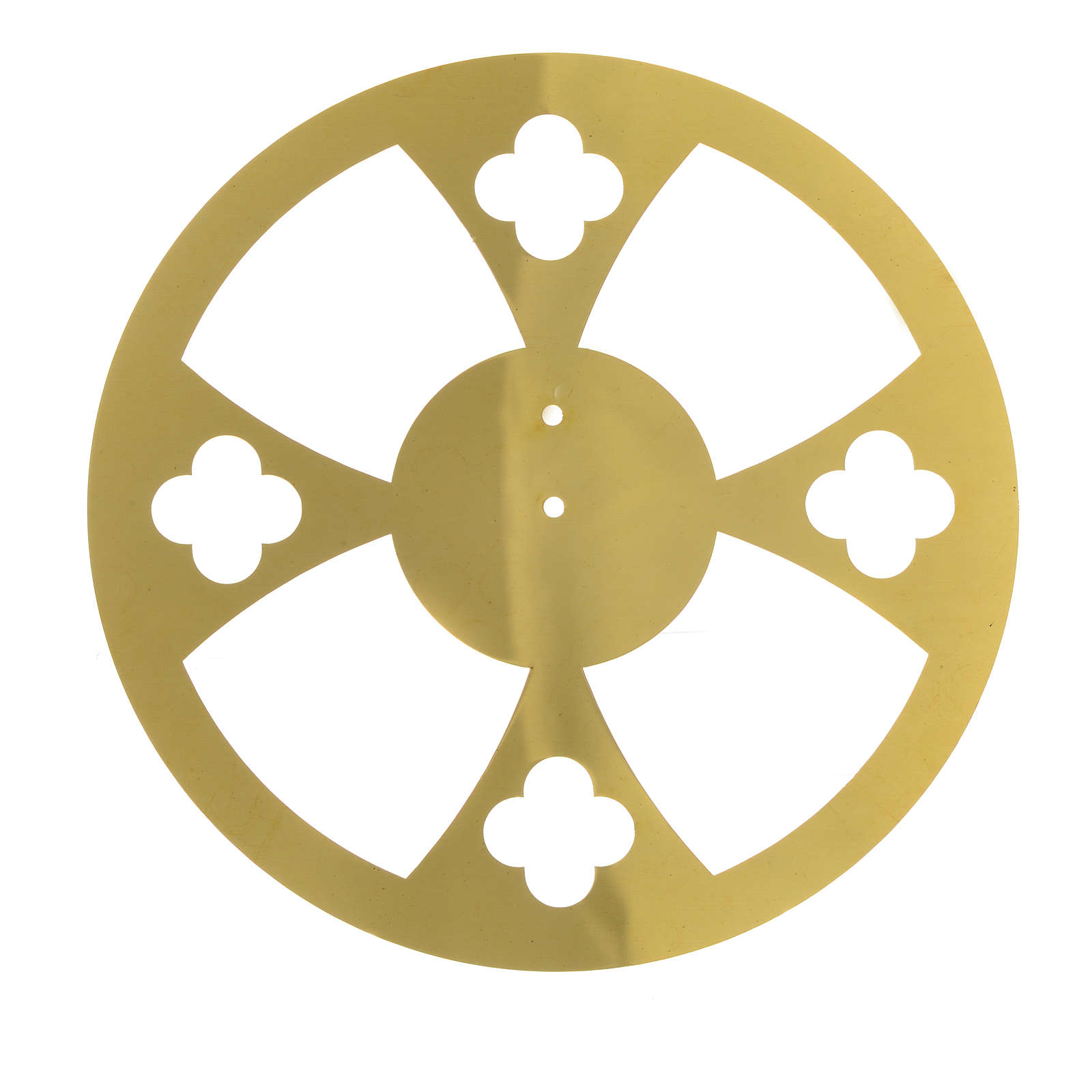 Halo in golden brass with crosses 3