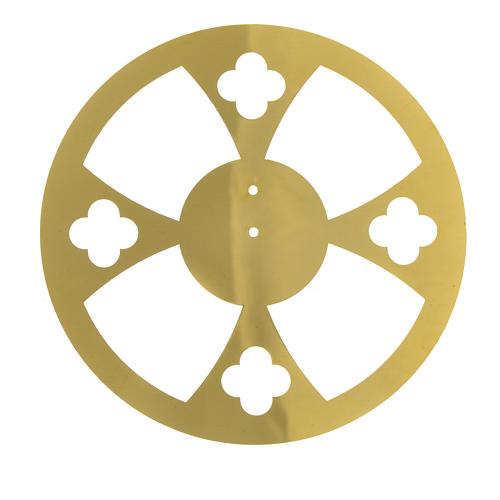 Halo in golden brass with crosses 1