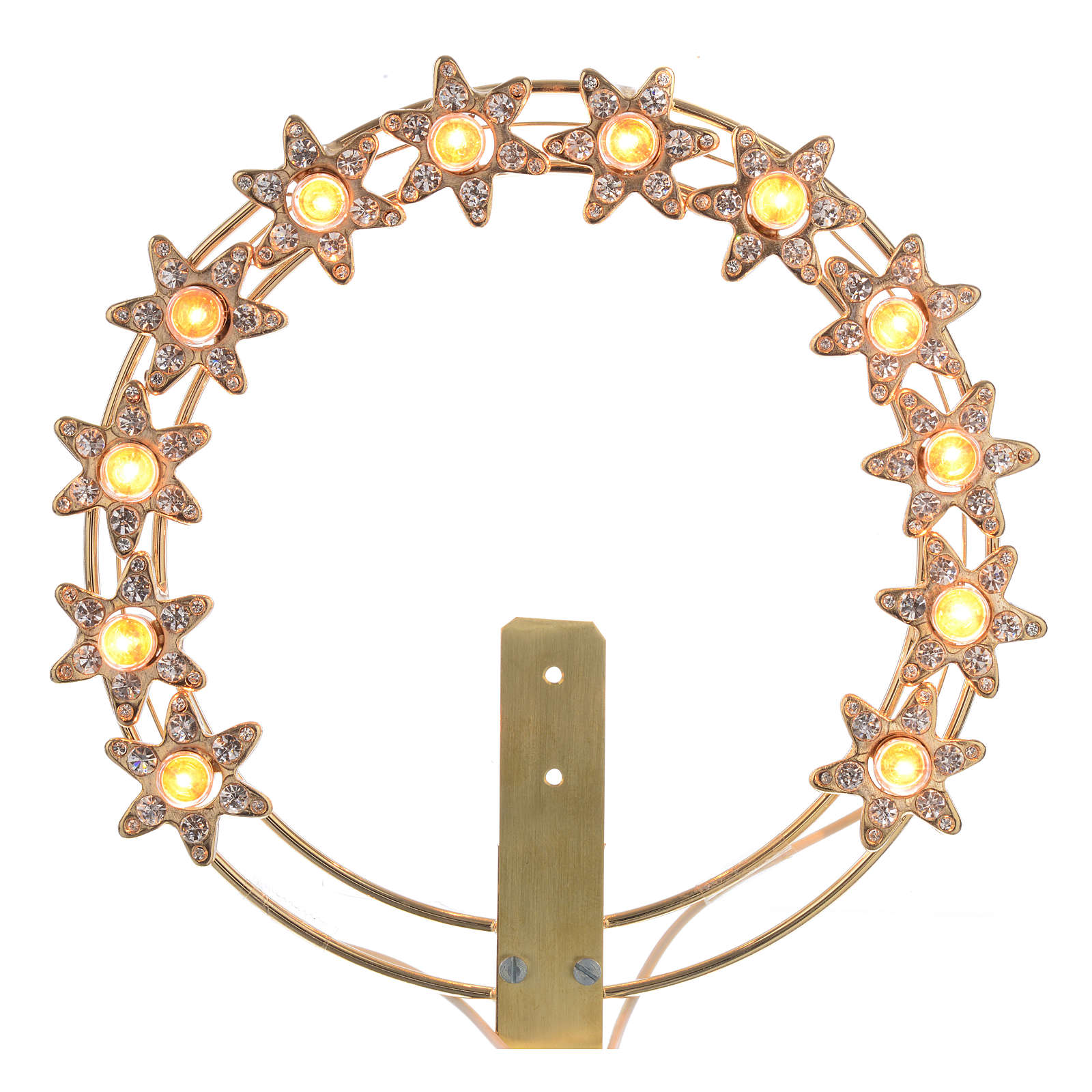 Luminous halo with lights and rhinestones 3
