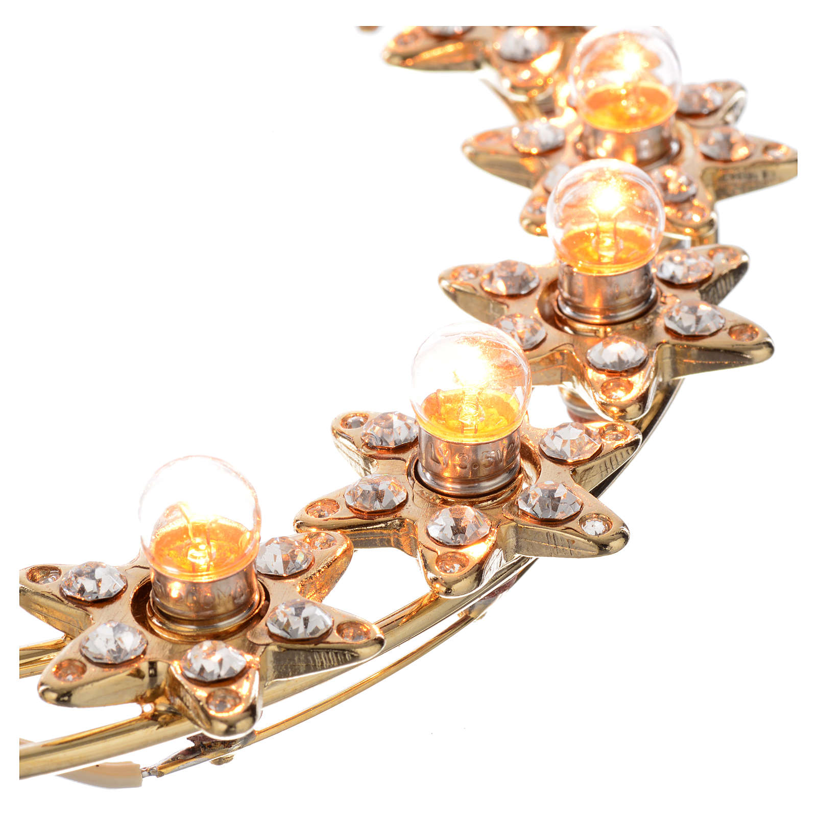 Couronne lumineuse ampoules et strass 3