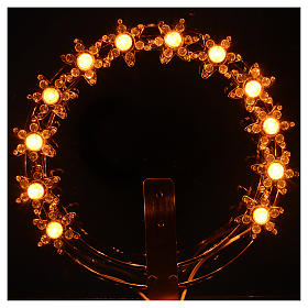 Couronne lumineuse ampoules et strass s2